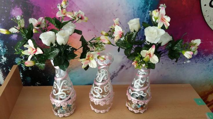 sticle decorate handmade