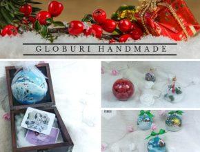 Globuri handmade pentru bradul de Crăciun