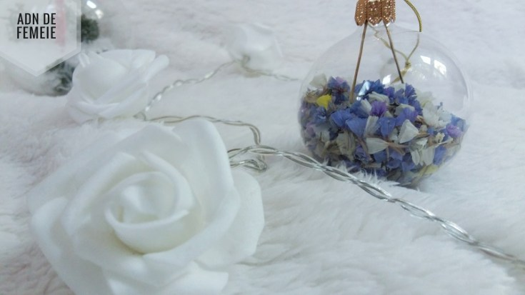 globuri cu flori uscate