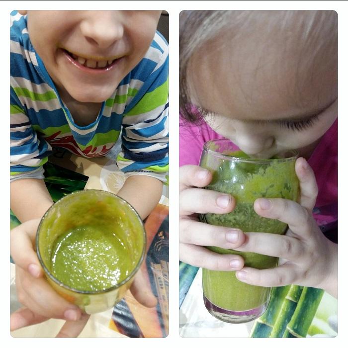 smoothie verde pentru copii