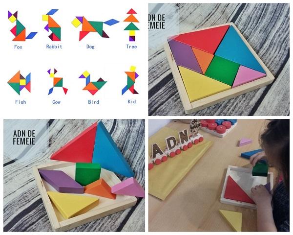 tangram din lemn