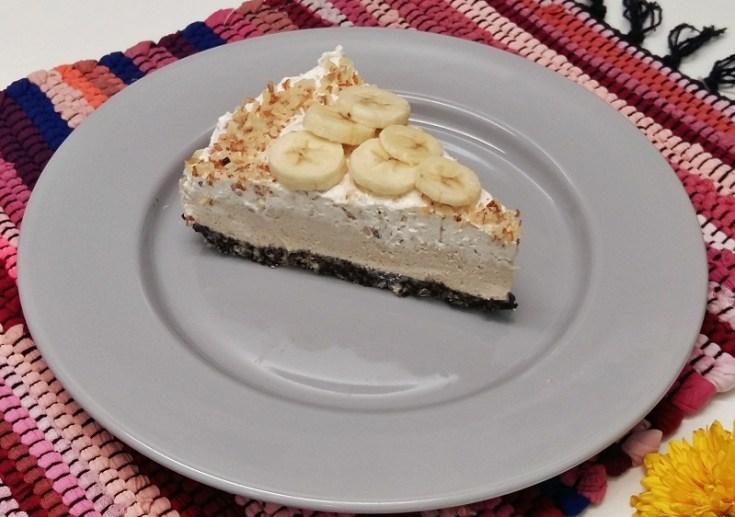 cheesecake cu banane si unt de arahide