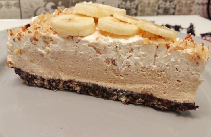 cheesecake cu unt de arahide si banane