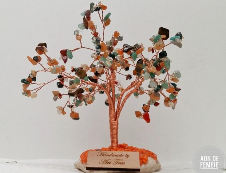 copac handmade cu pietre semipretioase