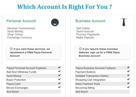 Payza-personal-account-vs-business-account