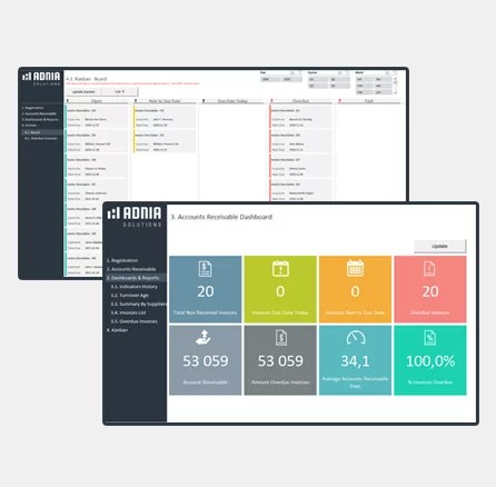 Accounts Receivable Management Template - Cover