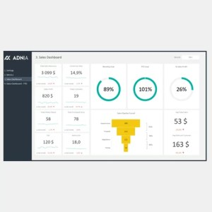Sales Dashboard Excel Template - cover