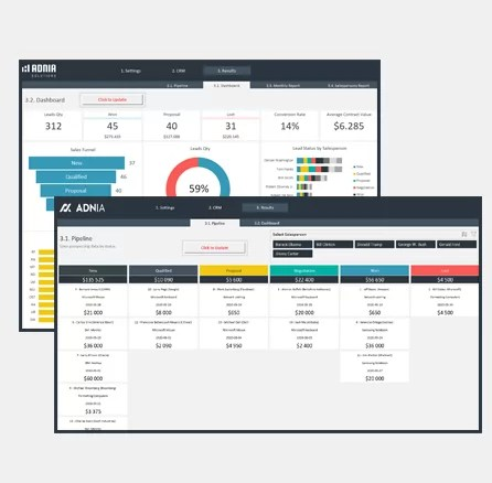CRM Excel Template 3.0 - Cover