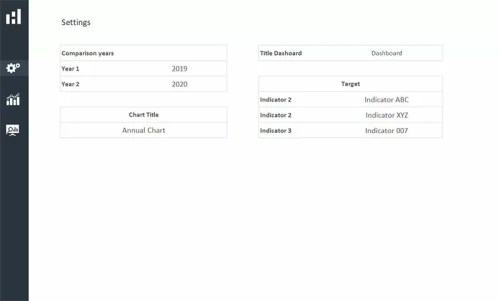 Settings - Excel Dashboard Design Duo Theme 2