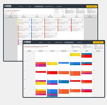 Excel Dashboard Examples, Adnia Solutions