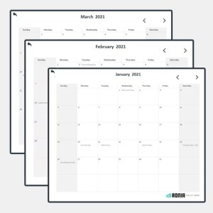 Free Monthly Calendar Excel Template
