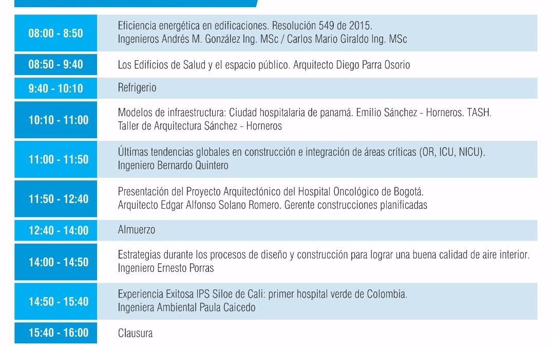 EXPERTOS NACIONALES E INTERNACIONALES EN CONGRESO DE ARQUITECTURA E INGENIERÍA HOSPITALARIA