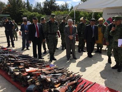 Destruyen mil 100 armas decomisadas por la SEDENA