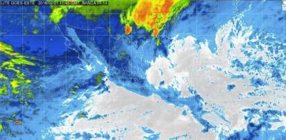 Se prevé cielo medio nublado con actividad eléctrica y lloviznas aisladas en Oaxaca (07:30 h)