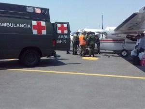 13 de marzo 2018 traslado aéreo de pacientes que sufrieron accidente en Jamiltepec