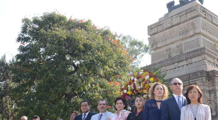 Encabeza Fraguas el 212 aniversario del natalicio de Benito Juárez; descarta buscar la reelección (11:25 h)
