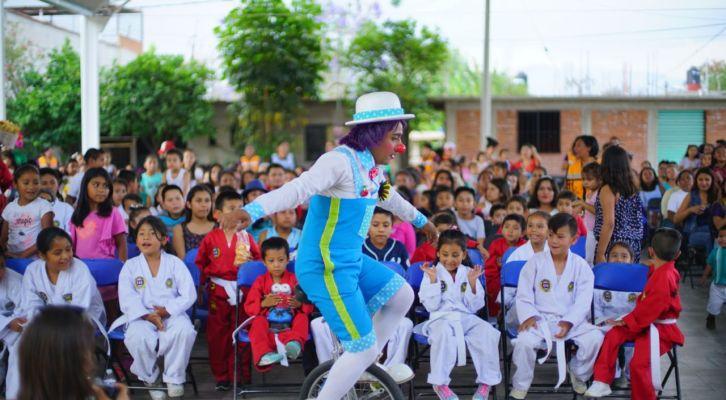 Acercan festival del Día del Niño a la agencia de La Raya (14:30 h)