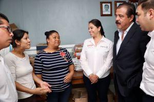 Verifican SEDESOL y SEDESOH funcionamiento del comedor comunitario de Rancho Nuevo, uno de los 250 instalados en Oaxaca 2