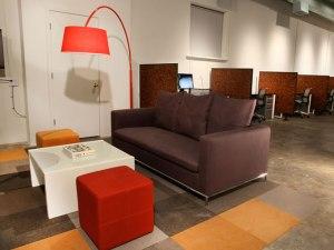 Coworker lounge in CoLAB at Second Street Studios, Santa Fe, NM