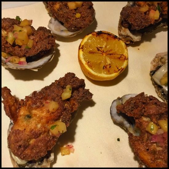 Eloisa's Crispy Oysters on the Half Shell (Source: Geo Davis)
