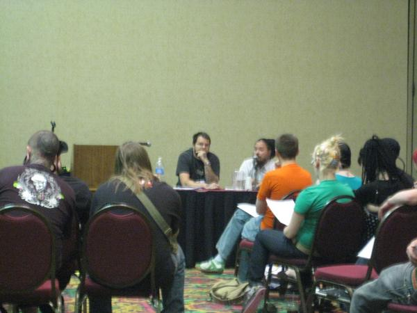 Brett Perkins and John Johnson teaching aftercare at the APP Conference in 2007