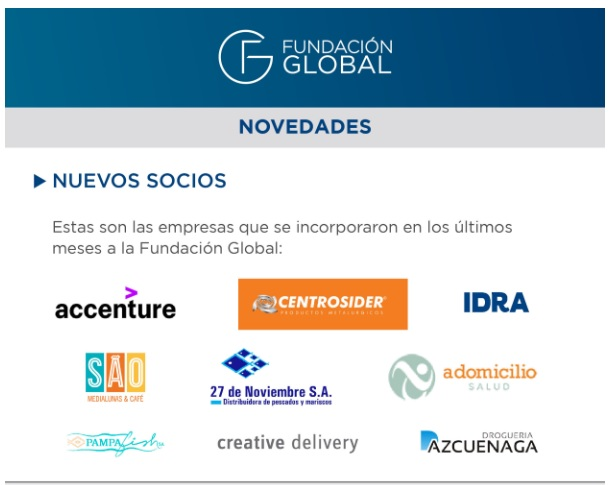 A Domicilio forma parte de la Fundación Global