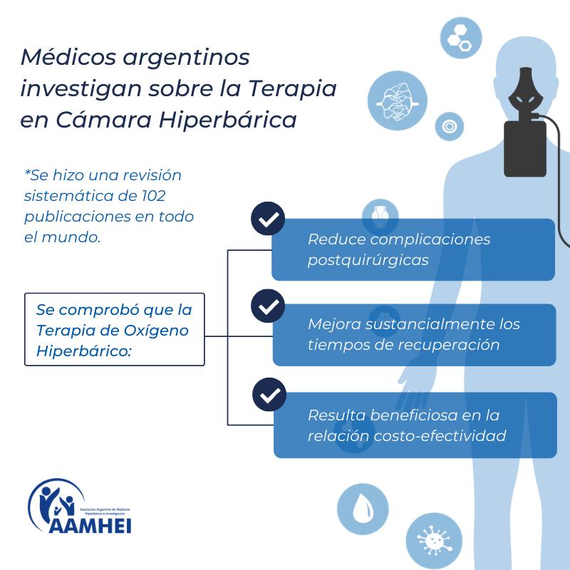 Estudio argentino revela que la terapia de oxigeno hiperbárico optimiza los costos sanitarios