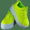 Zapatillas Plataforma Verde 756