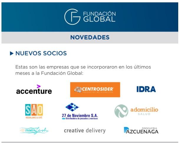 A Domicilio forma parte de la Fundación Global