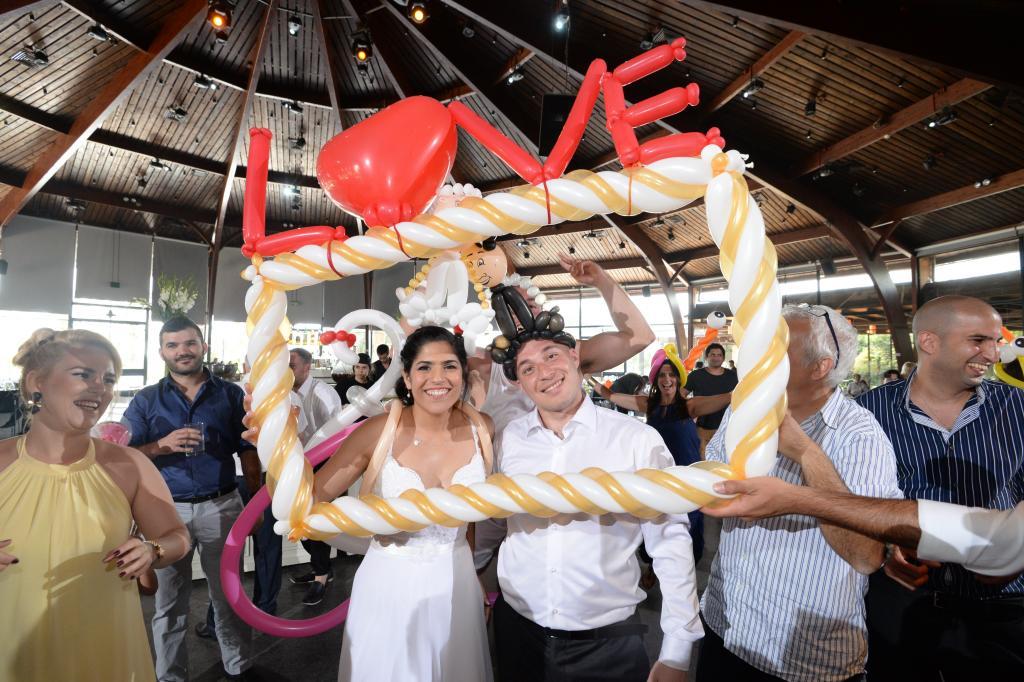 בלונים לחתונה המדהימה שלכם!