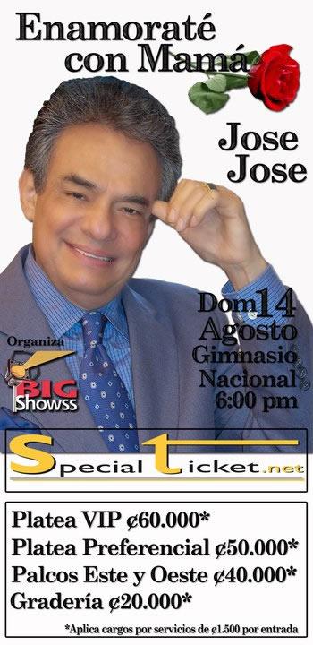 Concierto Jose Jose en Costa Rica