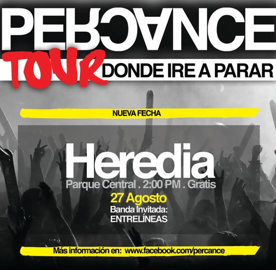 Percance en Concierto Tour Donde Ire a Parar Heredia - Adondeirhoy.com