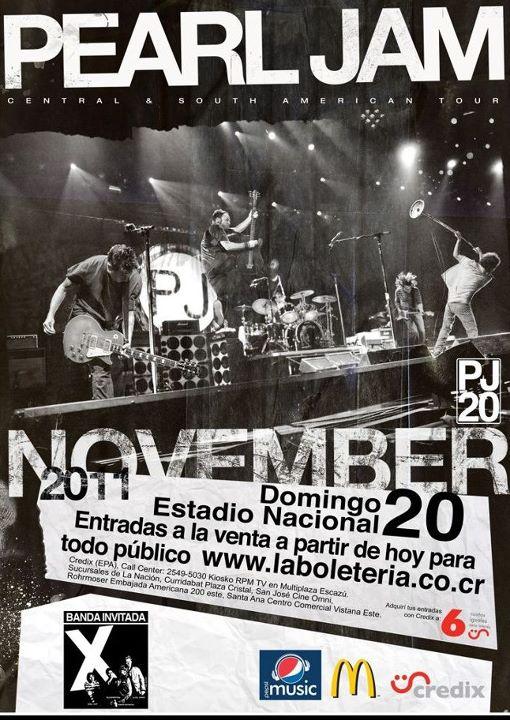 Adondeirhoy.com - Pearl Jam en Costa Rica