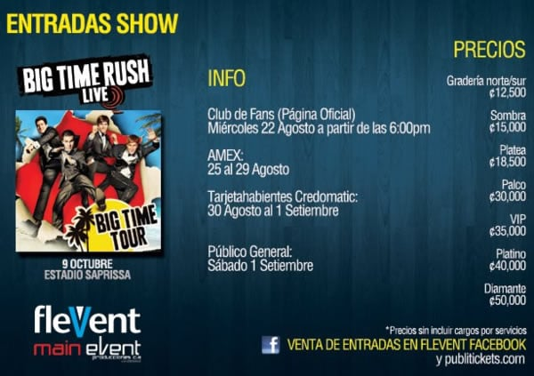 Big Time Rush en Costa Rica