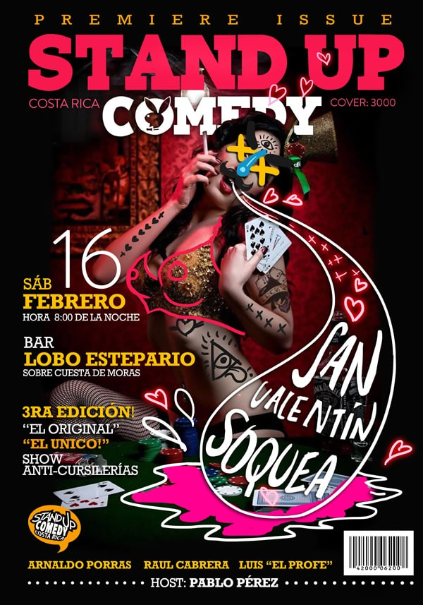 Stand Up Comedy Costa Rica - San Valentin Soquea