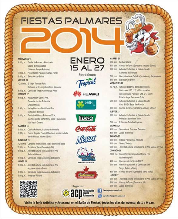Calendario Palmares 2014