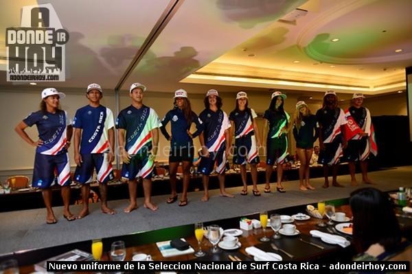 Nuevo uniforme de la Seleccion Nacional de Surf Costa Rica