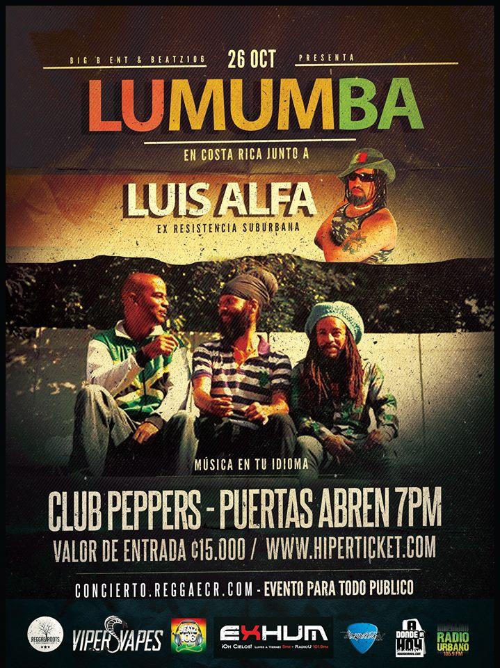 Luis Alfa y Lumumba en Costa Rica