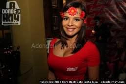 Jazmin Zuñiga Halloween 2014 Hard Rock Cafe Costa Rica