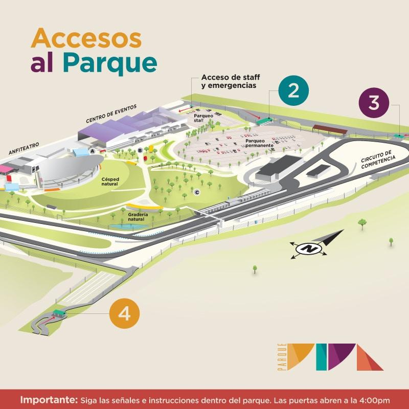 Accesos ingreso a Parque Viva