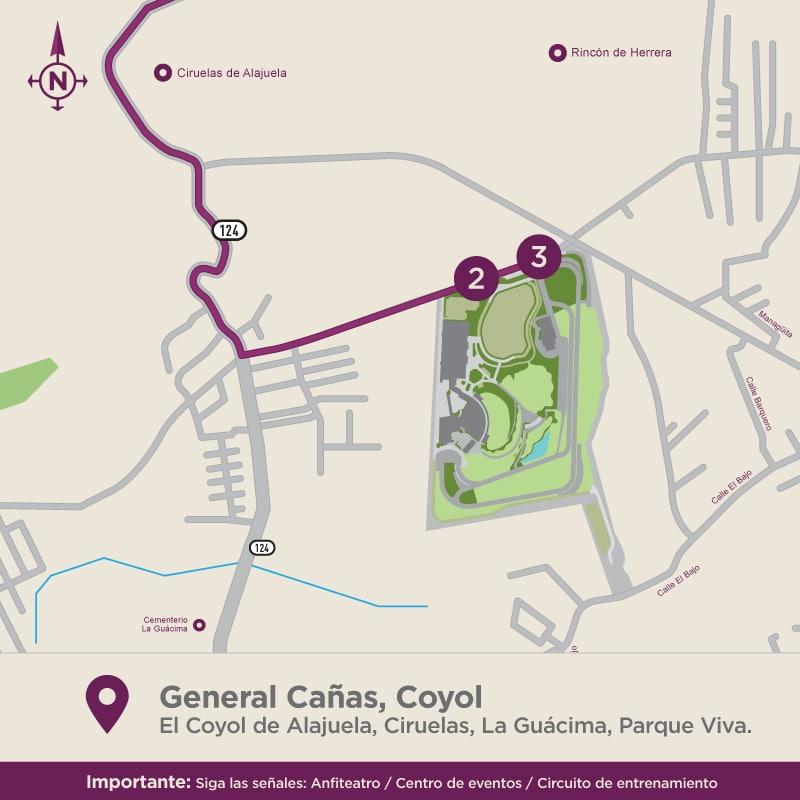 Acceso a Parque Viva Por El Coyol de Alajuela
