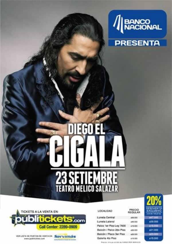 Concierto Diego El Cigala y Piano en Costa Rica