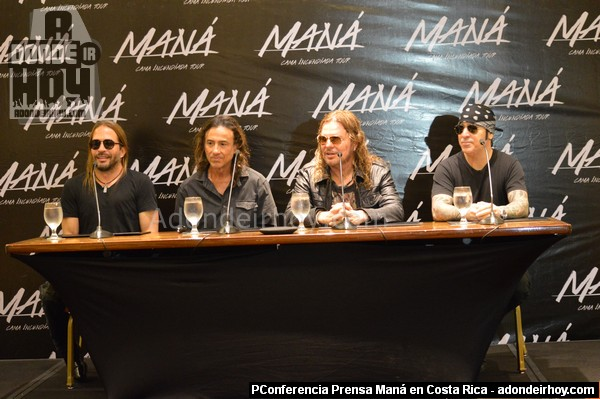 Concierto de Maná en Costa Rica - Conferencia de Prensa