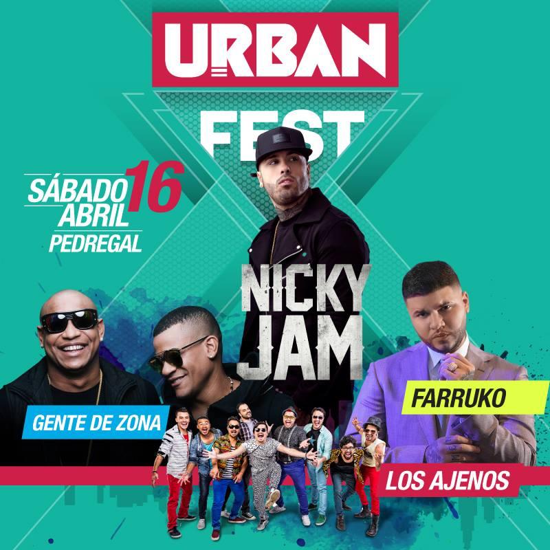 Concierto Urban Fest 2016 en Costa Rica
