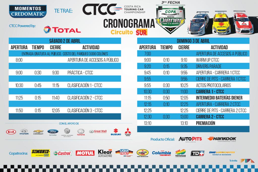 Tercera Fecha CTCC 2016 - Copa Baterías Diener