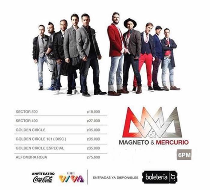 Concierto Costa Rica Vive 2017 Magneto Mercurio Love Edition