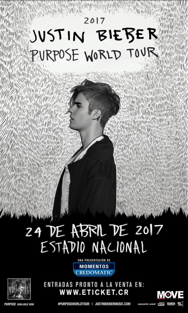 Entradas Gratis Concierto de Justin Bieber en Costa Rica 2017