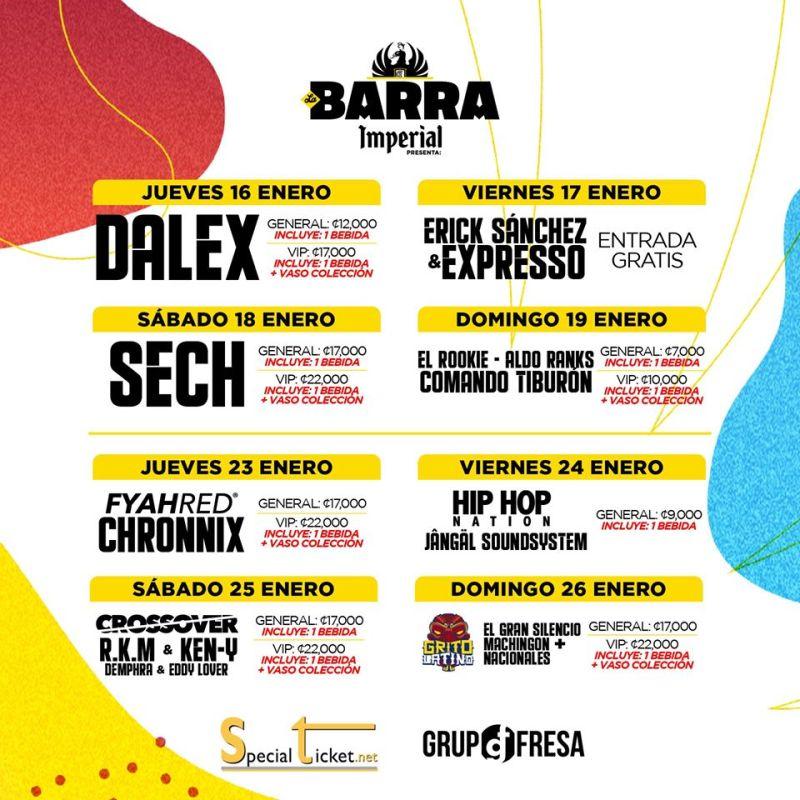 Calendario Barra Imperial 2020 Fiestas Palmares