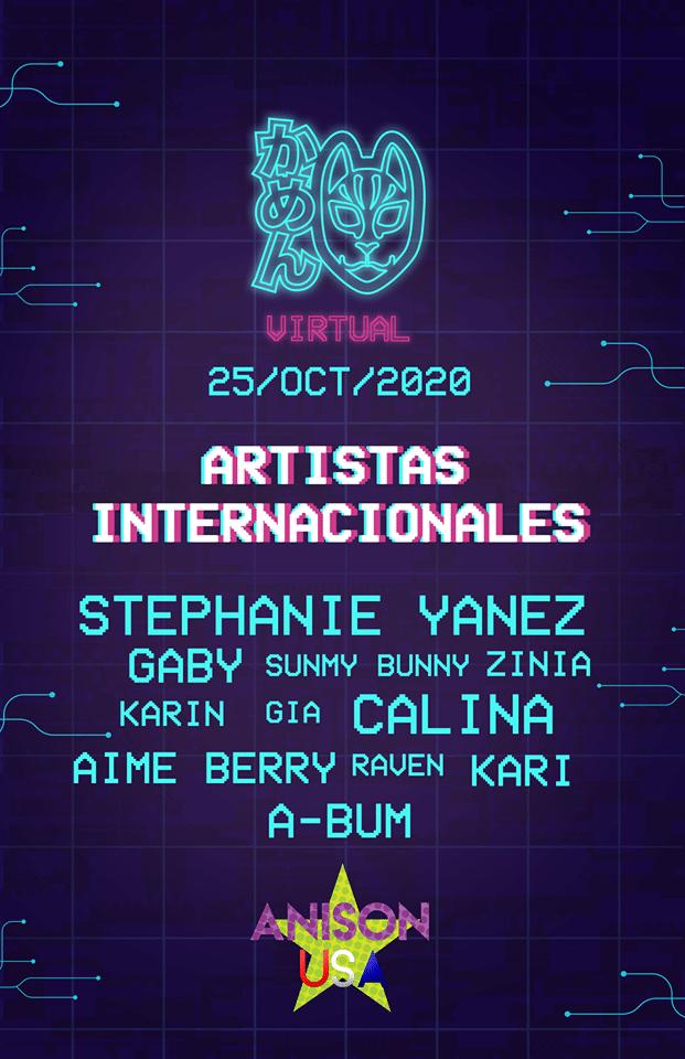 Festival Kamen Virtual 2020 - Artistas internacionales