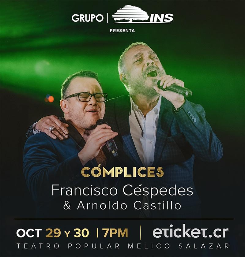 Francisco Céspedes y Arnoldo Castillo - Cómplices afiche